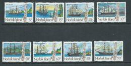 Norfolk Island 1985 Whale Ship Set 8 FU - Isola Norfolk