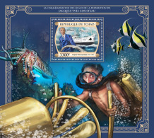 Z08 TCH17420b Tchad Chad 2017 Jacques Yves Cousteau MNH ** Postfrisch - Chad (1960-...)