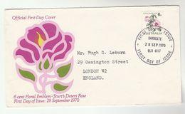 1970 Sandgate AUSTRALIA FDC Stamps DESERT ROSE FLOWER Cover Flowers - Primo Giorno D'emissione (FDC)