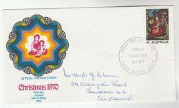 1970 Sandgate AUSTRALIA FDC Stamps CHRISTMAS  Cover - FDC