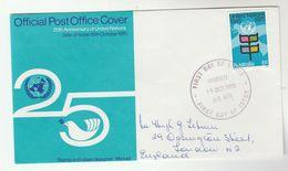 1970 Sandgate AUSTRALIA FDC Stamps UNITED NATIONS Cover Un - FDC
