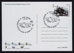"""2017 ITALIA """"CENTENARIO BATTAGLIA AEREA ISTRANA / GRANDE GUERRA"""" CARTOLINA ANNULLO 01.10.2017 (ISTRANA) - Italia"""