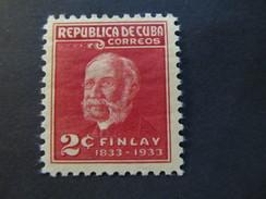 1934 - CUBA - DR. CARLOS J. FINLAY - SCOTT 319 A62 2C - Cuba