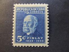 1934 - CUBA - DR. CARLOS J. FINLAY - SCOTT 320 A62 5C - Cuba
