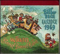 Bilderbuch-Kalender 1969  -  Wichtel Bimmel-Bummel-Bahn  - Ca. 23 X 21 Cm - Calendars
