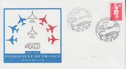 Enveloppe  40éme  Anniversaire   PATROUILLE  DE  FRANCE    SALON  DE  PROVENCE   1993 - Militaria