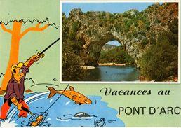 07------vacances Au PONT D'ARC--illustration   André VIGNO---voir 2 Scans - Vallon Pont D'Arc
