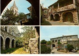 """07----RARE-----LAVILLEDIEU--le Clocher-rue Médiévale-le Cloître """" CANDIDE """"  Antiquaire---voir 2 Scans - France"""