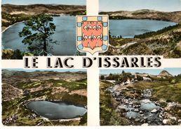 07----LE LAC D'ISSARLES ---( Multivues-blason )--voir 2 Scans - France