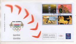 Gambia - Busta FDC - Sydney 2000 Olympic Summer Games - Con Annullo - Edizione Bolaffi Torino (Italia) - (BPLAST2) - Gambia (1965-...)