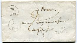 SEINE ET OISE De MAGNY LAC à En Tête De La Mairie Du 20/06/1829 Linéaire 30x10+ Dateur A Taxée 2 - 1801-1848: Precursors XIX