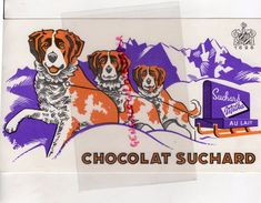 BUVARD CHOCOLAT SUCHARD MILKA- CHIEN DE MONTAGNE- CHOCOLATERIE - Kakao & Schokolade