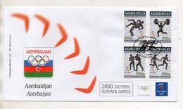 Azerbaijan - Busta FDC - Sydney 2000 Olympic Summer Games - Con Annullo - Edizione Bolaffi Torino (Italia) - (BPLAST2) - Azerbaijan