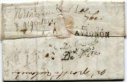 MOSELLE Déboursé N°55 De METZ Et Déboursé D'AVIGNON Sur LAC D AVIGNON Du 23/08/1814 - 1801-1848: Précurseurs XIX