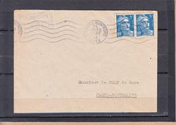 R.B.V. 5.L.O. Sur Lettre De ST AMAND-MONTROND Cher  25 Sept 48 Pour PARIS AUSTERLITZ Mne De GANDON 5f Bleu La PAIRE - Mechanical Postmarks (Advertisement)