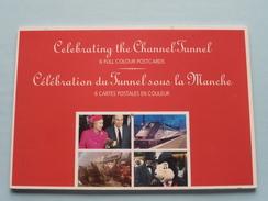 CELEBRATING The Channel TUNNEL / Sous La Manche Anno 1994 EUROTUNNEL ( Le SHUTTLE ) Carnet 6 CP / PK ! - Zonder Classificatie