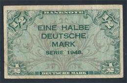 BRD Rosenbg: 230 Gebraucht (III) 1948 1/2 Deutsche Mark (8590309 - [ 7] 1949-… : RFA - Rep. Fed. Tedesca