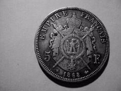 5 F NAPOLEON III TETE LAUREE  ANNEE 1868 BB TTB MIS EN VENTE 20 EUR AU LIEU DE 40 - Francia