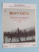 BOTT-GEYL Cuvée Jules Geyl 1997 ( Béblenheim France ) +/- 11 X 8,5 Cm ! - Gewurztraminer