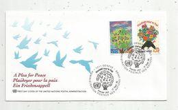 Timbre, FDC, 1 Er Jour  , UNITED NATIONS , Plaidoyer Pour La PAIX , Suisse , Genéve ,1996 , 2 Timbres - Genf - Büro Der Vereinten Nationen