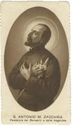 Santino S.Antonio Maria Zaccaria Seppia Fustellato Con Orazioni Ed.Giovanni Russo Napoli - Santini