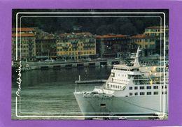 06 NICE Le Port Et Le Bateau De Corse Au Crépuscule Photo Paul DOUIN - Transport Maritime - Port