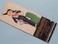 GITANES Cigarettes De CHOIX - - - DIPLOMATES Cigares Légers ( Regie Française ) 6 X 15,5 Cm. Carton / Voir Photo ! - Publicités