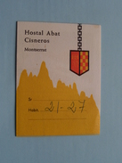 HOSTAL ABAT Cisneros Montserrat ( Oliva ) Voir Photo ! - Dépliants Touristiques