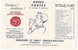 Buvard Chicoree Et Malt Protez Delatre - Buvards, Protège-cahiers Illustrés