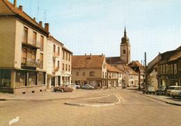 2 Cartes ; Rue Wilson Et L'eglise , Place Napoleon - Puttelange