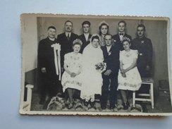 D155669  Hungary Wedding Group Photo  1947 Costumes - Photos