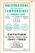 OBLITERATIONS TEMPORAIRES ET PREMOERS JOURS - R. GEOFFROY -  FRANCE PAYS EXPRESSION FRANCAISE MONACO ANDORRE- 1941/1963 - France