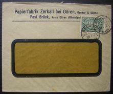 1923 Brück Kreis Düren (Rheinland) Papierfabrik Zerkall Bei Düren - Lettres & Documents