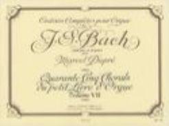Partition Pour Orgue De JS BACH Par Dupré Volume 7 - Musique Classique