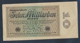 Deutsches Reich Rosenbg: 113d, Firmendruck, Wz. Kreuzblüten Gebraucht (III) 1923 10 Milliarden Mark (8872388 - [ 3] 1918-1933 : Weimar Republic