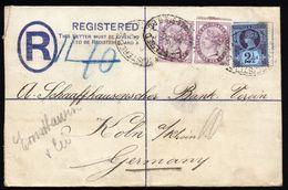A5002) UK R-Brief Von London 1892 Nach Koeln / Deutschland - Storia Postale
