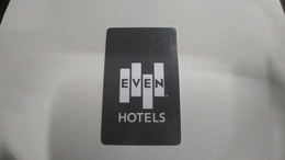U.s.a.-hotal Key-(127)-(d)-even Hotels-new York-(looking Out Side)-used+1cardcprepiad Free - Cartes D'hotel