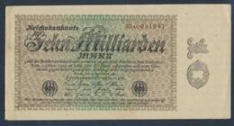 Deutsches Reich Rosenbg: 113d, Firmendruck, Wz. Kreuzblüten Gebraucht (III) 1923 10 Milliarden Mark (8872393 - [ 3] 1918-1933 : Weimar Republic