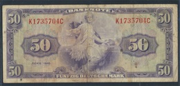 BRD Rosenbg: 242, Kenn-Bst.: K Gebraucht (III) 1948 50 Deutsche Mark (7412441 - [ 7] 1949-… : FRG - Fed. Rep. Of Germany