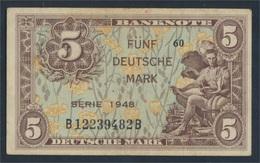 BRD Rosenbg: 236a, Kenn-Bst: B, Serie: B Gebraucht (III) 1948 5 Deutsche Mark (8981320 - [ 7] 1949-… : FRG - Fed. Rep. Of Germany