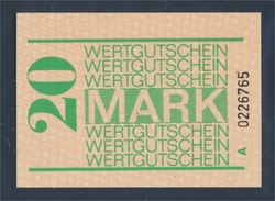 DDR Gefängnisgeld Serie A Bankfrisch 20 Mark (8047616 - [ 6] 1949-1990 : GDR - German Dem. Rep.