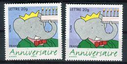 France - Variété N°Yvert 3927, 1 Exemplaire Bleu + 1 Violet , Neufs Luxe  - Ref V244 - Variétés Et Curiosités