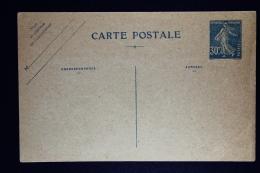 France:  Carte Postale 1926 30 Centimes Camee Blue SD  N3 Cote  € 150 - Cartoline Postali E Su Commissione Privata TSC (ante 1995)