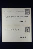 France:  Caisse Nationale D'Epargne Paris B27 Remboursement Par Tube - Ganzsachen