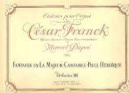 Partition Pour Orgue De César FRANCK Par Dupré Volume 3 - D-F