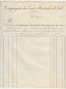 Compagnie Des Eaux Minérales De Vals Ardèche - Alimentaire