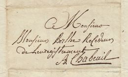 Lac 1830 Chabeuil Valence Drome Pour De Berlhe - Marcophilie (Lettres)