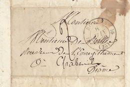 Lac 1830 Genissieux Romans Sur Isère Chabeuil Drome Pour De Berlhe - Marcophilie (Lettres)