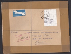South Africa: Registered Airmail Cover Overport To Netherlands, 1996, ATM Meter Label, R Cancel Durban (traces Of Use) - Brieven En Documenten
