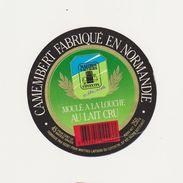 ETIQUETTE DE  CAMEMBERT REAUX LESSAY MAITRES LAITIERS DU COTENTIN - Cheese